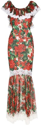 Dolce & Gabbana Portofino-print fishtail gown