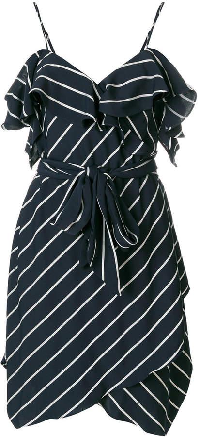 Kendall+Kylie cold-shoulder frill dress