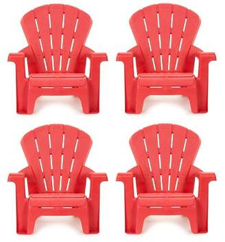 Little Tikes Garden Chair - Red (4pk)