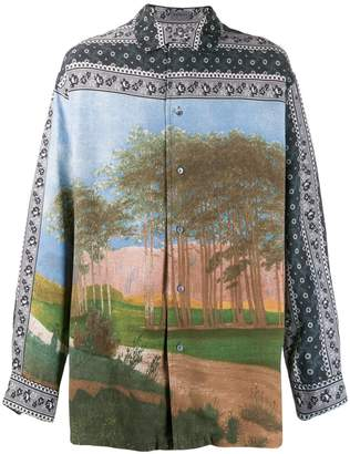 Kenzo Pre-Owned 1980s bandana and trees print shirt