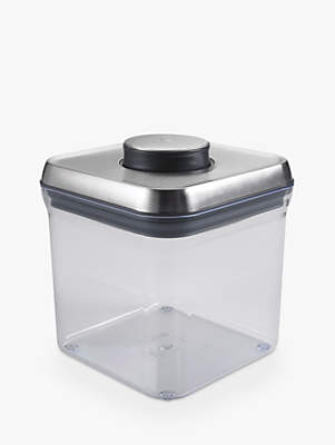 OXO Good Grips Square POP Storage Container, Steel, 2.3L