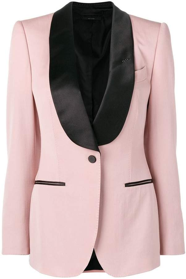 contrast formal blazer