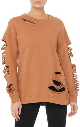 Alo Yoga Fade Long-Sleeve French Terry Pullover