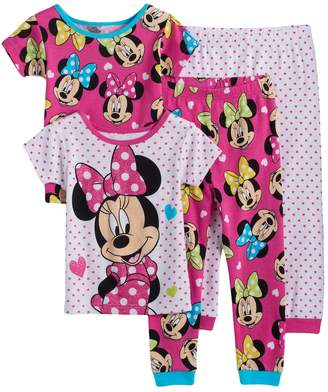 Disney Disney's Minnie Mouse Toddler Girl 4-pc. Pajama Set