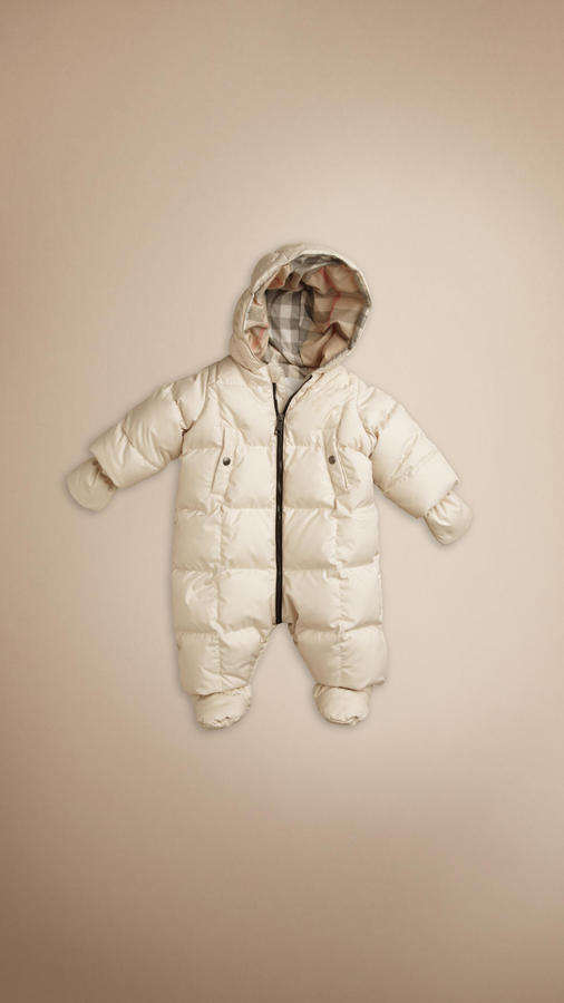 Down-Filled Quilted Snowsuit
