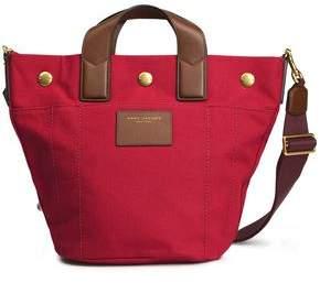 Marc Jacobs Leather-Trimmed Canvas Shoulder Bag