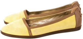 Tod's Yellow Suede Flats