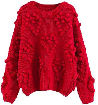 Goodnight Macaroon 'Fia' Pom Pom Chunky Knit Sweater (3 Colors)