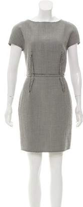 Lanvin Wool Houndstooth Dress