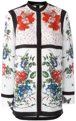 Alexander McQueen floral tablecloth print blouse