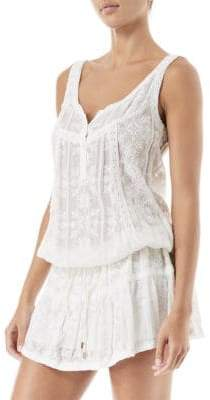 Melissa Odabash Jas Embroidered Mini Dress