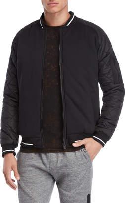 Soul Star Mixed Media Bomber Jacket