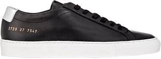 Common Projects Women's Leather Achilles Low-Top Sneakers $435 thestylecure.com
