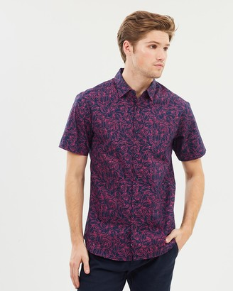 yd. Floral Party Short Sleeve Shirt