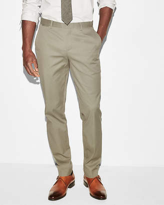 Express Slim Olive Green Stretch Cotton Dress Pant