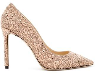 Jimmy Choo Romy 100 Crystal Pumps - Womens - Gold
