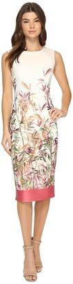 Christin Michaels Colette Floral Print Midi Dress $104 thestylecure.com
