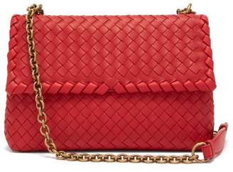 Bottega Veneta Olimpia Small Intrecciato Shoulder Bag - Womens - Red