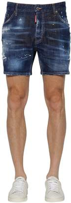 DSQUARED2 16.5cm Commando Cotton Denim Shorts