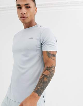 Asos 4505 4505 icon running t-shirt with step hem and mesh panels