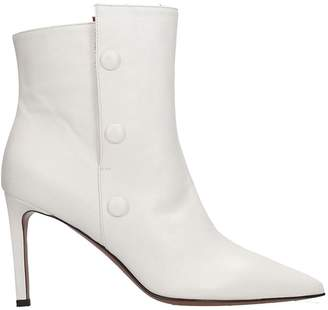 L'Autre Chose Lautre Chose LAutre Chose High Heels Ankle Boots In White Leather