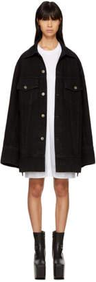 Matthew Adams Dolan SSENSE Exclusive Black Denim Falling Cuff Jacket