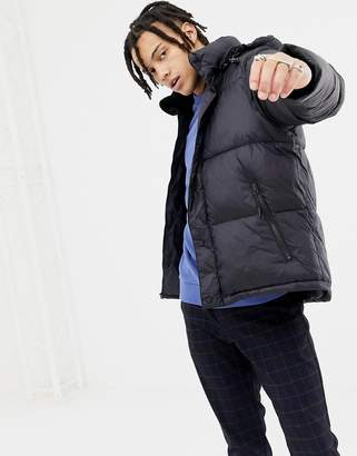Penfield Equinox puffer jacket detachable hood in black
