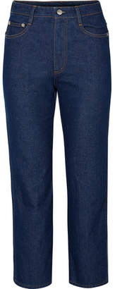 Simon Miller W013 Cropped High-rise Straight-leg Jeans - Blue