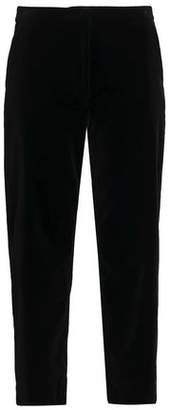 Goat Cropped Velvet Straight-Leg Pants