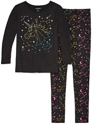 Arizona Tight Fit Galaxy Unicorn 2pc Pajama Set - Girls