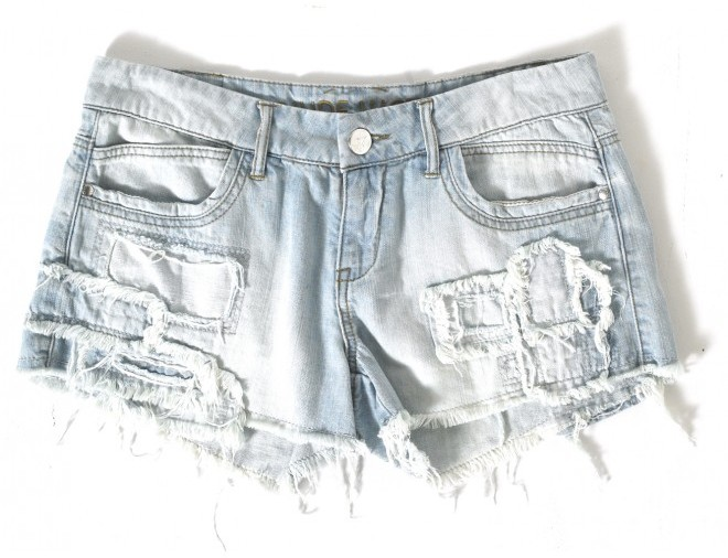 Patch Denim Short