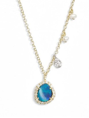 Women's Meirat Mini Stone Diamond Pendant Necklace $498 thestylecure.com