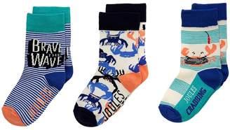 Joules Kids Brilliant Socks 3-Pack Boys Shoes