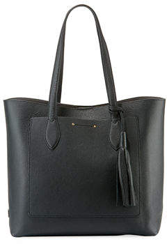 Cole Haan Key Item Leather Tote Bag With Tassel
