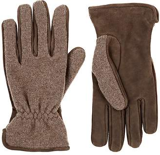 Barneys New York MEN'S MERINO WOOL-CASHMERE & SUEDE GLOVES