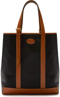 Mulberry Heritage Tote Black and Cognac Scotchgrain