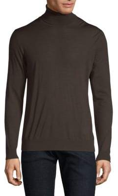 Kiton Maroon Knit Turtleneck Sweater