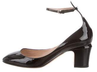 Valentino Tan-Go Patent Leather Ankle Strap Pumps