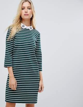 Vila 2-in-1 stripe shirt dress