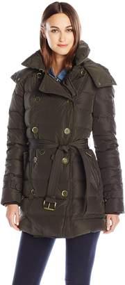 London Fog Women's Lf Heritage Beltedd/B Down Coat