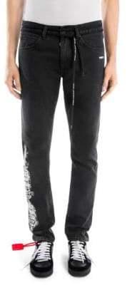Off-White Gothic Slim Back Cotton Dark Jeans