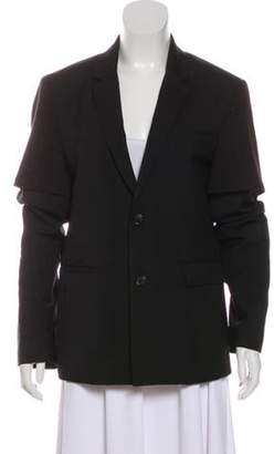 Kris Van Assche Wool Two-Button Blazer Black Wool Two-Button Blazer
