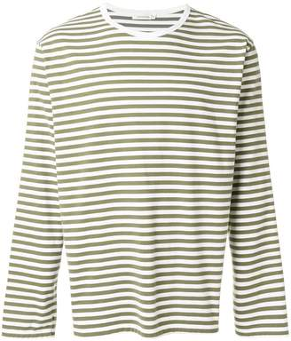 Nanamica striped print long sleeve top