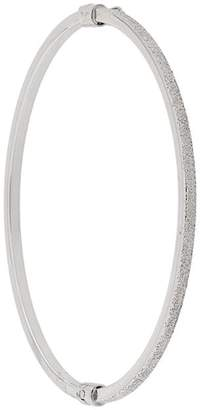 Carolina Bucci Half florentine finish oval bangle
