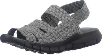 Bernie Mev. Cindy Silver Grey Womens Ankle Strap Size 38M