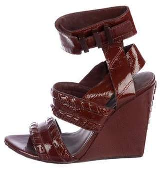 Alexander Wang Patent leather Wedge Sandals Patent leather Wedge Sandals