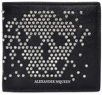 Alexander McQueen Studded Skull Leather Classic Wallet