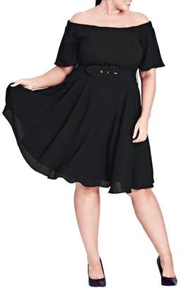 City Chic Lady Valerie Fit & Flare Dress