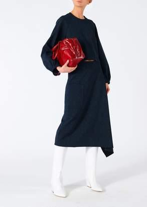 Tibi Eclipse Pique Origami Wrap Skirt