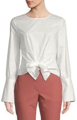 J.o.a. Tie-Front Cotton Top
